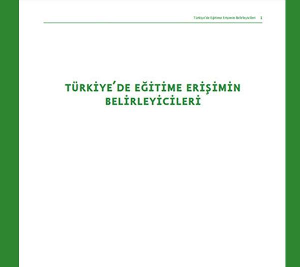 Türkiye'de Eğitime Erişimin Belirleyicileri