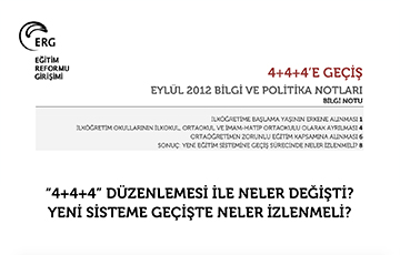 4+4+4'e Geçiş: Bilgi ve Politika Notları Yayımladı