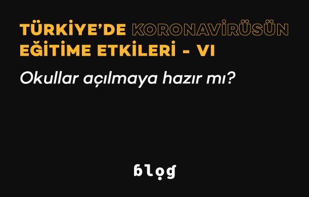 Türkiye'de Koronavirüsün Eğitime Etkileri – VI | Okullar açılmaya hazır mı?